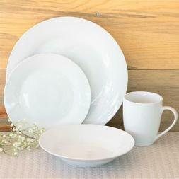 10 Strawberry Street Simply White Round 16-Piece Dinnerware