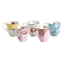 Royal Albert 5 Piece 100 Years 1950-1990 Mug Set, 14.1 oz, M