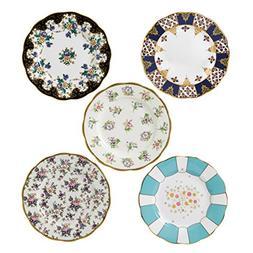 """Royal Albert 40017560 100 Years 1900-1940 Plate Set, 8"""", Mul"""