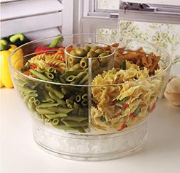 Circleware 10042 Acrylic Cold Bowl Salad Dessert Food Set wi