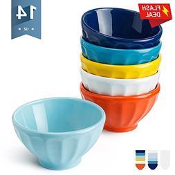 Sweese 1116 Porcelain Fluted Latte Bowl Set - 14 Ounce Stabl