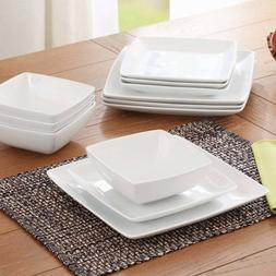 Better Homes and Gardens Coupe Square 12-Piece Dinnerware Se