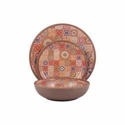 12 pcs melamine dinnerware set moroccan tiles