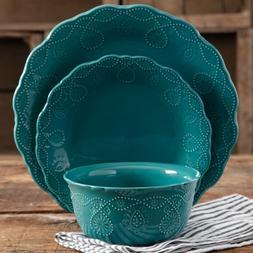 12 Piece Dinnerware Set Bowls Dinner Plates The Pioneer Woma