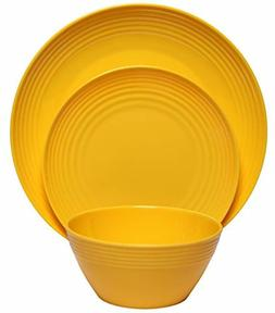 12-Piece Dinnerware Set Dinner Dessert Plates Bowls Shatter-