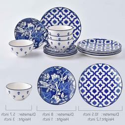 Wisenvoy 12-Piece Dinnerware Set Dishes Dinner Plate Set Ser