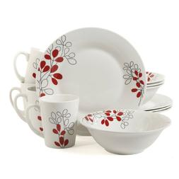 12-Piece Leaves Dinnerware Set Dinner Plates Bowls and Mugs