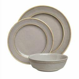 Pandex 12-piece Melamine Dinnerware Set, Dishwasher Safe, Gr