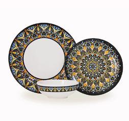 Bowla 12-Piece Melamine Dinnerware Set - Service for 4 India