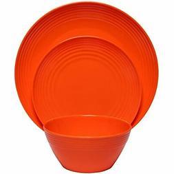 12-Piece Melamine Dinnerware Set  Shatter-Proof And Plates