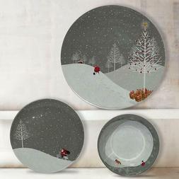36 piece shatter proof melamine dinnerware set