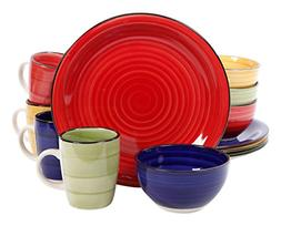 Gibson Home 95631.12RM Color Vibes 12 Piece Dinnerware Set,