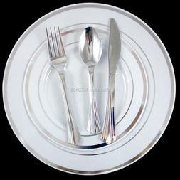 120 People Disposable Wedding <font><b>Dinnerware</b></font>