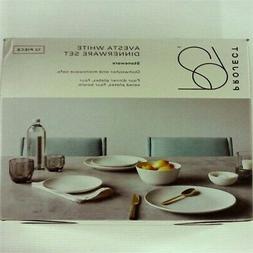12pc avesta stoneware dinnerware set white