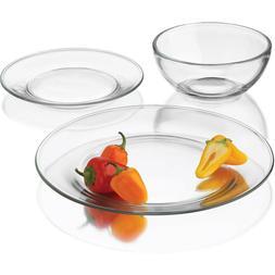 Libbey 12pc Modern Dinnerware Set Bowls Dinner Plate Side Pl