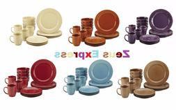 16-32 Piece Stoneware Dinnerware Set Rachael Ray Plates Mugs