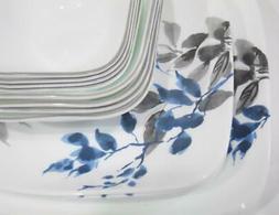 16-pc CORELLE Square KYOTO NIGHT Dinnerware Set *Blue Japane