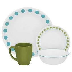 16 Pcs Corelle Classic South Beach Dinnerware Set Dining Kit