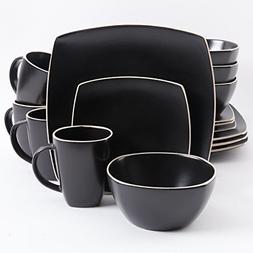 Soho Lounge Matte Glaze 16 Piece Dinnerware Set Stoneware Mi