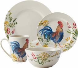 16 Piece Colorful dinnerware set Dinner Plates,Dessert Plate