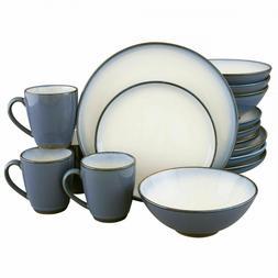 16 piece concepts break resistant stoneware dinnerware