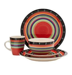 Gibson 16-Piece Dinnerware Plate Set Service For 4 Place Set