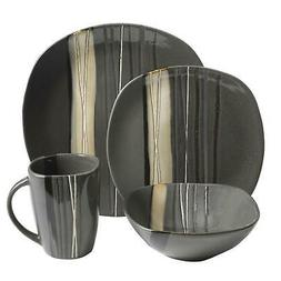 16 Piece Dinnerware Set Dining for 4 Dishes Plates Bowls Mug