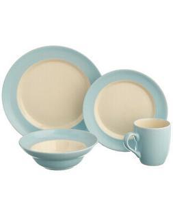 Cuisinart 16-Piece Dinnerware Set Light Blue CDST-16PB