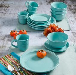 16 Piece Round Dinnerware Set Stoneware Plates Dishes Servic