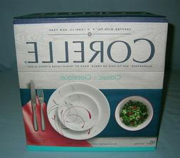 CORELLE 16 Piece Dinnerware Set SPLENDOR Dishwasher Microwav