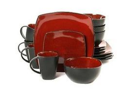 Gibson Home Amalfi 16-Piece Dinnerware Set Square Dinner Sal