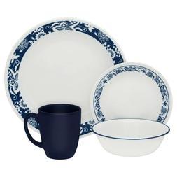 CORELLE 16 PIECE DINNERWARE SET - TRUE BLUE DESIGN