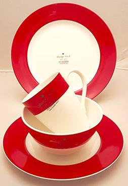 16-Piece Kate Spade Lenox Rutherford Circle Red Pattern Dinn