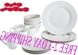 16-Piece Kitchen Dinnerware Set, Plates, Bowls, Mugs, Servic