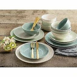 16 Piece Stoneware Siterra Assorted Dinnerware Set Sango Ser
