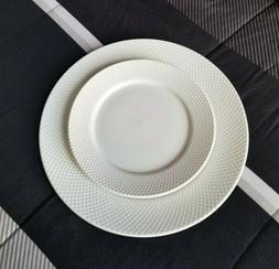 Sango 16-piece White Embossed Ribbed Dinnerware Set Service