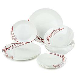 18-pc Luminarc Dinnerware Plates Set Unbreakable Shockproof