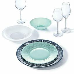 18-pc Luminarc Dinnerware Plates Set Unbreakable Shockproof