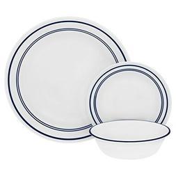 """Corelle 18 Piece""""Classic Cafe Blue"""" Livingware Dinnerware Se"""