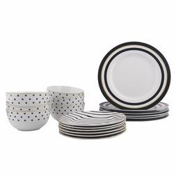 18 piece dinnerware set modern elegance service