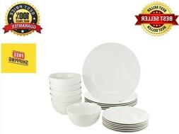 18 Piece Dinnerware Set Service for 6 Quality lightweight Di