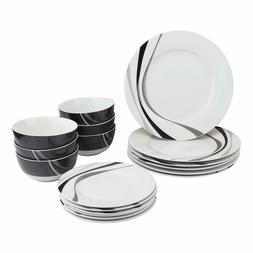 18-Piece Kitchen Dinnerware Set, Dishes, Bowls, Service for