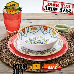 18-Piece Melamine Dinnerware Set, Durable, Functional and st