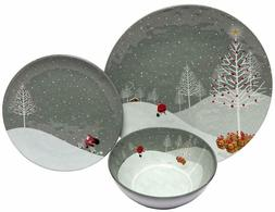 18 piece melamine dinnerware set santa comes