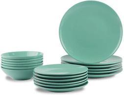 18 piece stoneware dinnerware set mint service