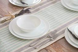 20 Piece Livingware Dinnerware Set with Storage,Winter Frost