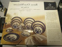 20 Piece Royal Doulton Real Old Willow Porcelain China Set S