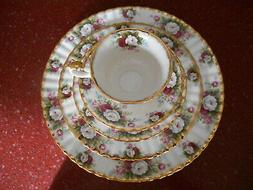 20pc ROYAL ALBERT Bone China Celebration Dinnerware NEW Gold