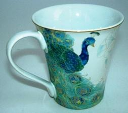 222 Fifth Lakshmi Peacock Fine Porcelain Mug