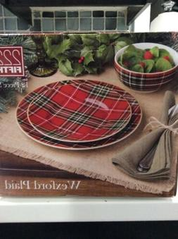 222fifth Wexford Red Christmas Plaid Winter 12 Piece Set 4 D
